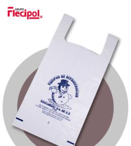 bolsa impresa blanca